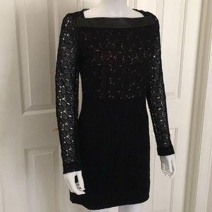 NEW Diane von Furstenberg black lace dress 6 DVF